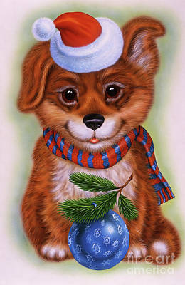 Puppies Mixed Media - Small Puppy 15 by Michael Seleznev