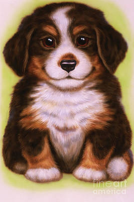 Puppies Mixed Media - Small Puppy 20 by Michael Seleznev