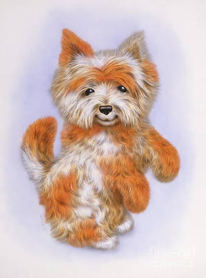 Puppies Mixed Media - Small Puppy 19 by Michael Seleznev