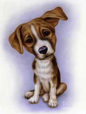 Puppies Mixed Media - Small Puppy 4 by Michael Seleznev