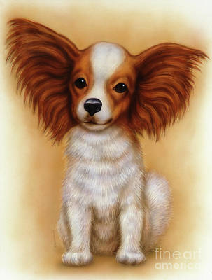 Puppies Mixed Media - Small Puppy 6 by Michael Seleznev