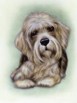 Puppies Mixed Media - Small Puppy 8 by Michael Seleznev