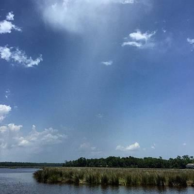 Rain Photograph - Small Rain Shower #rain #clouds by Joan McCool