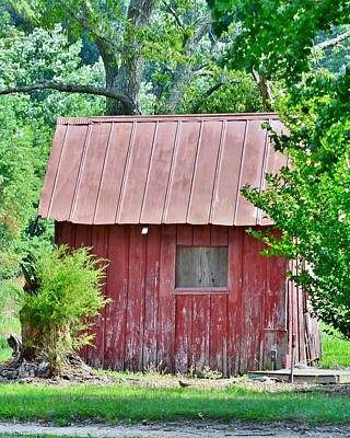 Bemis Photograph - Small Red Barn - Lewes Delaware by Kim Bemis
