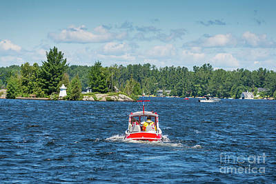 Photograph - Small Red Boat by Les Palenik