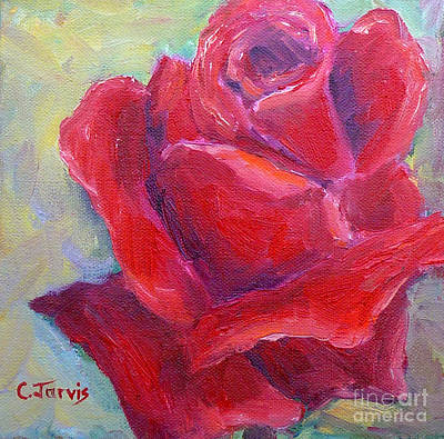 Painting - Small Red Rose by Carolyn Jarvis