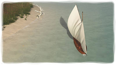 Digital Art - Small Sail Boat... by Tim Fillingim