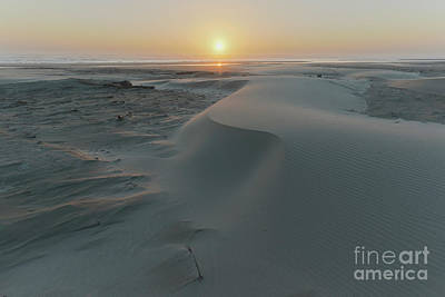 Central Oregon Coast Photograph - Small Sand Dunes On The Beach by Masako Metz