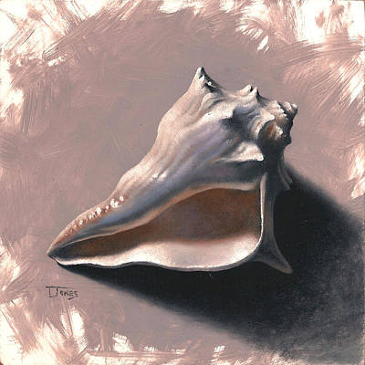 Painting - Small Seashell by Timothy Jones