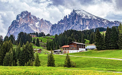 Photograph - Small Settlement In Alpe Di Siusi by Carolyn Derstine