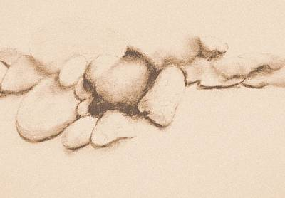 Drawing - Small Stones - Warm by VIVA Anderson