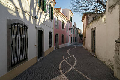 Photograph - Small Streets Stroll In Cascais Portugal by Georgia Mizuleva