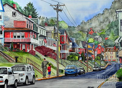 Painting - Small Town, America by John W Walker