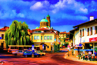Photograph - Small Town Center by Rick Bragan