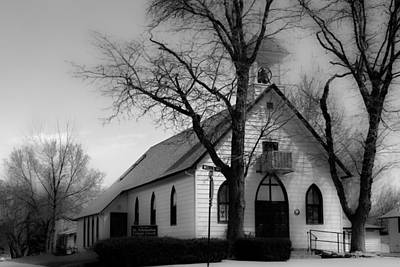 Black Photograph - Small Town Church by James BO  Insogna