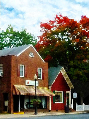 Autumn Photograph - Small Town In Autumn by Susan Savad