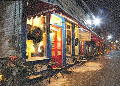 By Jackie Photograph - Small Town On A Winters Night by Jackie Sajewski