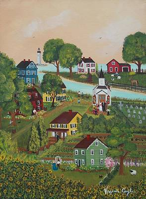Painting - Small Town by Virginia Coyle