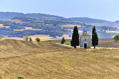 Small Tuscan Chapel Art Print by Juergen Feuerer