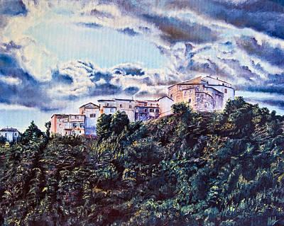 Priska Wettstein Pink Hues - Small Village by Michelangelo Rossi