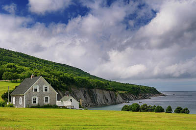 Small Village Of Capstick At The North Tip Of Cape Breton Island Art Print by Reimar Gaertner
