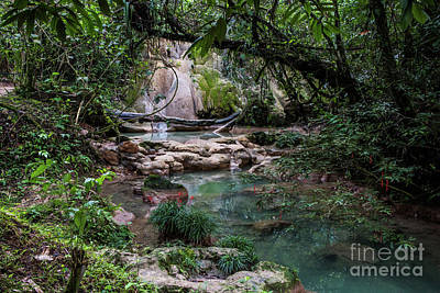 Photograph - Small Water Fall, Rio Xanil by Kathy McClure