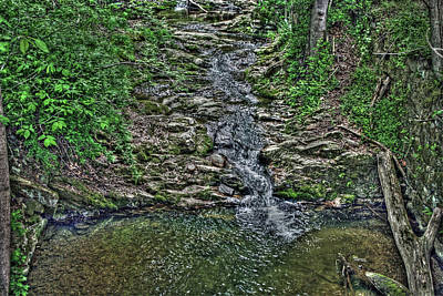 Digital Art - Small Waterfall by Andy Lawless