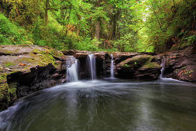 Small Waterfall At Rock Creek Art Print by David Gn