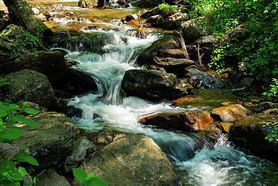 Photograph - Small Waterfall Georgia Mountains by Lawrence S Richardson Jr