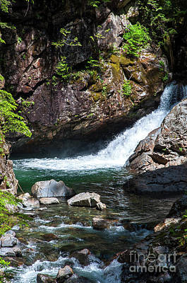 Photograph - Small Waterfall In Mountain Stream by Kirt Tisdale
