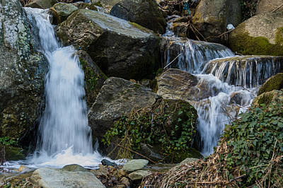 Small Waterfall Pelion Peninsula Art Print by Reuven Emanuel