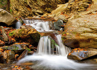 Photograph - Small Waterfalls by Cathie Crow
