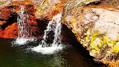 Photograph - Small Waterfalls, Litchfield National Park by Lexa Harpell