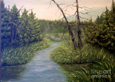 Painting - Small Waterways by Peggy Miller