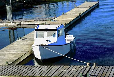 Photograph - Small White Boat by Stephanie Moore