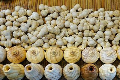 Photograph - Small Wooden Flasks by Yali Shi