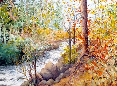 Painting - Smalley Falls by Ken Marsden
