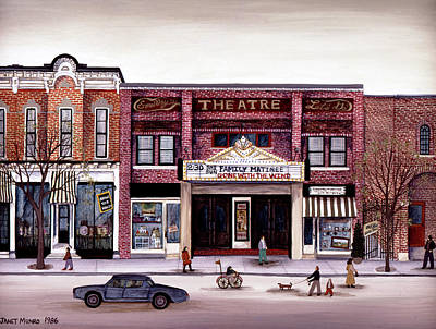 Cooperstown Painting - Smalley's Theater, Cooperstown, N.y. by Janet Munro