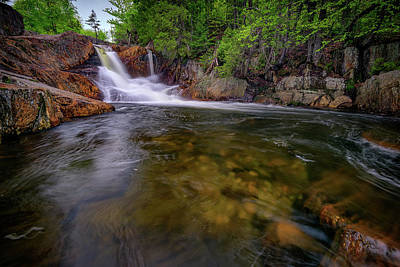 Franklin Photograph - Smalls Falls And The Sandy River by Rick Berk