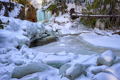 Photograph - Smalls Falls Ice by Rick Berk