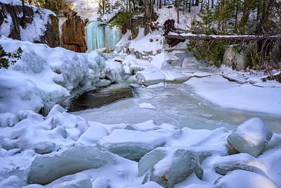 Photograph - Smalls Falls Ice by Rick Berk