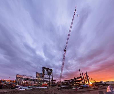 Photograph - Smart Financial Centre Construction Sunset Sugar Land Texas 10 26 2015 by Micah Goff