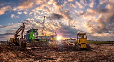 Photograph - Smart Financial Centre Construction Sunset Sugar Land Texas 11 21 2015 by Micah Goff