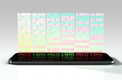 Smart Phone Stock App Art Print by Allan Swart