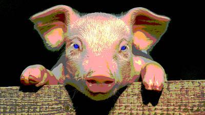 Smart Pig Art Print