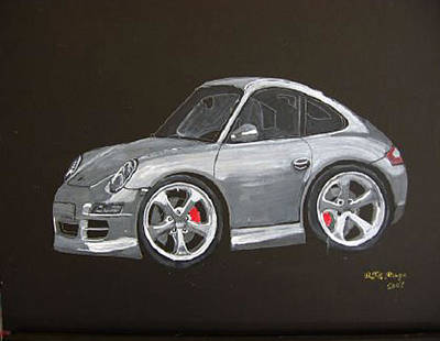 Smart Porsche Art Print by Richard Le Page