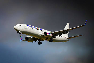 Berlin Photograph - Smartwings Boeing 737-900er by Smart Aviation