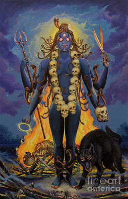 Painting - Smashan Bhairava Shiva by Vrindavan Das