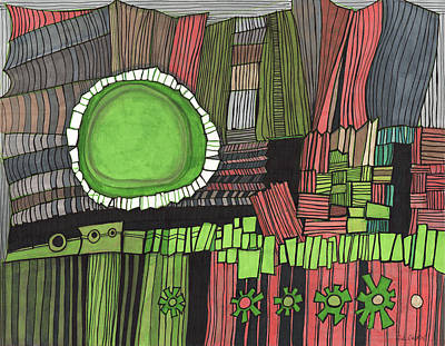 Drawing - Sun Gone Green by Sandra Church