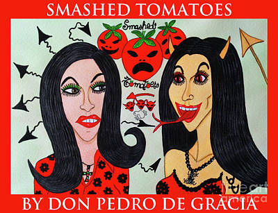 Drawing - Smashed Tomatoes by Don Pedro De Gracia